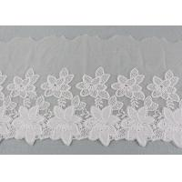 Best Embroidered Lace Ribbon Cotton Nylon Tulle Lace Trim For Fashion Designers wholesale