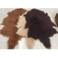 Best 2 * 4 Feet Home Upholstery Mongolian Lamb Throw Blanket With Hide Pelt wholesale