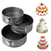 Best 3pcs Nonstick Springform Pan Cheesecake Pan Leakproof Cake Pan Bakeware Loose Base Cake Baking wholesale