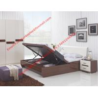 Best Storage bed box with oil bar support in dark oliver painting and white headboard furniture wholesale
