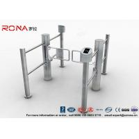 China Double Core Biometric Pedestrian Security Gates Stainless Steel With Access Control on sale
