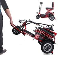 Best Electric three wheel scooter for elderly people folding tricycle 12AH lithium Battery wholesale