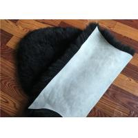 Cheap Dyed Black Sheepskin Fleece Blankets Soft Warm For Children Room Bed Decoration  for sale