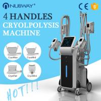 Buy cheap 4 handles coolsculpting cryolipolysis fat freezing slimming system 4 handles from wholesalers