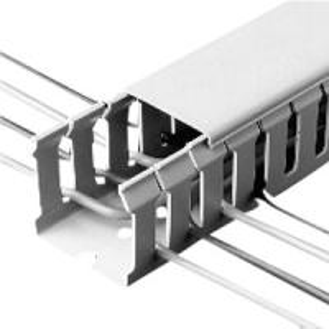 Best White color insulation 25 x 25mm PVC cable conduit, PVC Cable Duct with alkali resistance wholesale