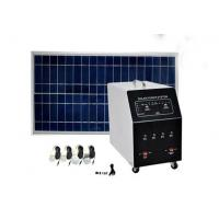 Best AC Residential Solar Power Systems Black For TV / Fan / Lamps wholesale