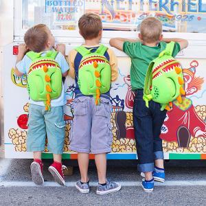 Best Softback Kid School Backpack For Boy , Dinosaur Animal Shape Kids School Bags wholesale