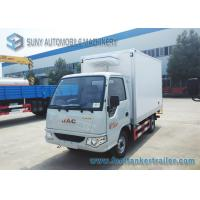 Quality Gasoline Engine 82 HP 4x2 Mini Refrigerated Box Truck Transport Ice Cream 1 T wholesale