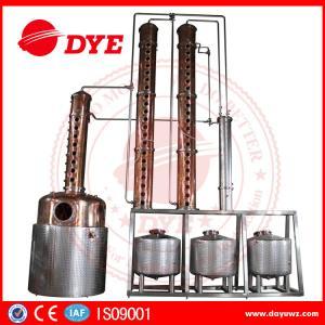 Best Distillery Brandy Gin Vodka Alcohol Copper Still Equipment CE Certificate wholesale