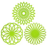 Best Silicone Multi-Use Intricately Carved Trivet Mat - Insulated Flexible Durable Non Slip Coasters wholesale