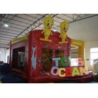 Best Yellow Bouncy Castle For Children / Inflatable Happy Hop Jumping Castle wholesale