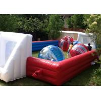 Best Red And Blue Inflatable Football Game 18x10m Dimension For Amusement Park wholesale