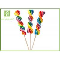 Best Biodegradable Wooden Lollipop Sticks With Ball Hot Stamping Logo Printed wholesale