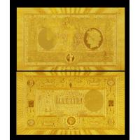 Best Antique Imitation Craft Italy Gold Foil Banknote 1000 Lire 24K Gold Foil Plated wholesale