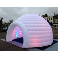 Best 3m 4m 5m Oxford Cloth White With LED Light Use Blow Up Inflatable Igloo Dome Tent For Party Event wholesale