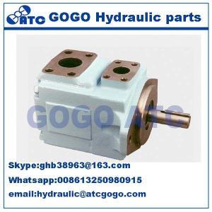 Quality Parker Denison powerful Hydraulic Oil Pump , Pressure vane axial piston motor T6CCM double vane pump wholesale