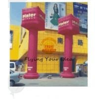 Best 0.4mm PVC Tarpaulin Advertising Helium Balloons Inflatable Pillar For Entertainment Events wholesale