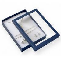 Best Premium Jewelry Paper Boxes Big Set Transparent Window For Necklace Packaging wholesale