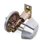 High Security SUS304 Single Cylinder Deadbolt Door Locks Plated Nickel Finish