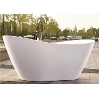 Cheap PMMA Portable Freestanding Oval Tub , White Plated Freestanding Soaker Tubs for sale
