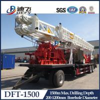 Best 1500m Depth DFT-1500 Truck Mounted Water Well Drilling Rigs for Hard Rock with Mud Pump wholesale