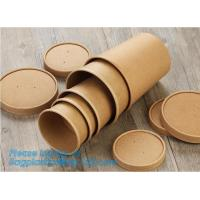 Best Disposable kraft paper soup cup_Double wall disposable hot coffee kraft paper soup cup_Easy Take away cups lid spoon wholesale