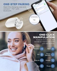 Best IPX7 Waterproof Bluetooth 5.0 True Wireless Earbuds 35H Cyclic Playtime TWS Headphones with Charging Case and mic wholesale