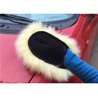 Best Merino Wool Sheepskin Car Wash Mitt Ultra Soft With Non - Scratch Design wholesale