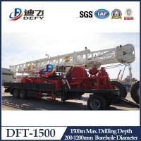Best 1000m 1500m trailer mounted hydraulic water well drilling rig with competitive price wholesale