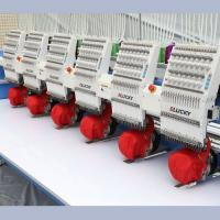 Best 12 Needle 400*450mm Embroidery Area  6 Head Flat Embroidery Machine wholesale