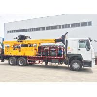Best Rotary Mobile Borehole Drilling Machine , Truck Mounted Water Well Drilling Equipment wholesale
