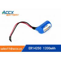 Cheap ER14250H with Axis 3.6V 1.2Ah memory back up battery for sale