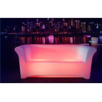 Best Two Seats LED Sofa 8-10 Hours Working Time Ployethylene Indoor LED Couches wholesale
