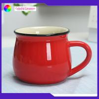 Disherwasher Safe Promotional Ceramic Coffee Mugs 350ml Capacity Custom Logo