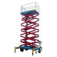 14 meters height mobile hydraulic scissor lift with motorized device loading capacity at 450Kg