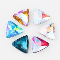 4 Sizes Crystal Triangle Pointed Back Bling Stones Non Hot Fix Glass Dancing Wear Leotard Accessories Trimming Beads