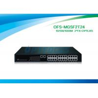 Cheap 12G Fiber Optic Managed Switch 2 SFP 1000 BASE - Fx 24 10 / 100 / 1000 BASE - Tx Fiber Switch No SFP for sale
