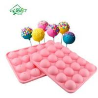 Best 24 holes silicone lollipop mold , silicone ice cube tray wholesale