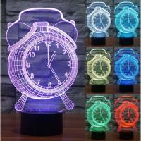 Best Hot sales Acrylic LED Table Desk Lamp 7 Colorful LED 3D Optical Illusion Night lamp With ABS Base wholesale