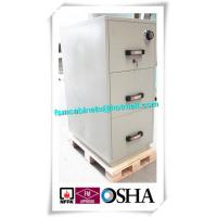 Best 3 Drawer Fire Resistant Filing Cabinets For Storing Documents In Hotel / Office wholesale