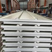 Cheap new building construction materials 50mm eps sandwich roof panel with anti slip steel sruface for sale