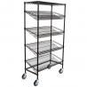 "Best 18"" Deep X 36"" Wide X 72"" High 5 Tier Slanted Wire Shelf Black Epoxy Shelving Unit wholesale"