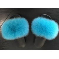 Best Indoor Outdoor Real Fox Fur Slippers 35-44 Size With Slides Platform OEM wholesale