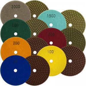 China Durable Diamond Polishing Pads , High Efficiency Diamond Terrazzo Polishing Pads on sale