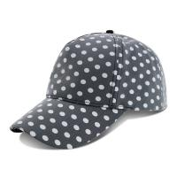 Best Curved Brim Baseball Cap / Youth Fitted Baseball Hats With Plain Black White Dot Printed wholesale