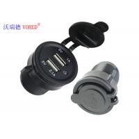 Cheap Dual Universal USB Car Charger Identification Technology Black Color for sale