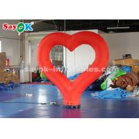 China 190T Nylon Cloth Red Heart Inflatable Lighting Decoration For Valentine 's Day on sale
