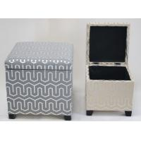 Best 100% handwoven fabric  home storage ottoman with lid and durable, rectangle shape wholesale