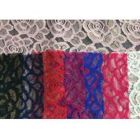 Cheap Water soluable golden Embroidered Rose guipure Lace Fabric Textile Design 90% for sale