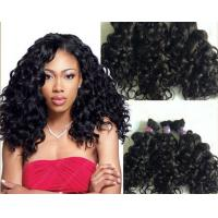 Buy cheap 100g Full Cuticle Body Wave Curly Human Hair Extensions No Damage from wholesalers